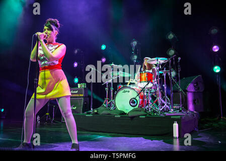 Los Angeles, Ca, USA. 25th Apr, 2019. Bikini Kill at the Hollywood Palladium in Los Angeles, California on April 25, 2019. Credit: Steve Rose/Media Punch/Alamy Live News - Stock Photo