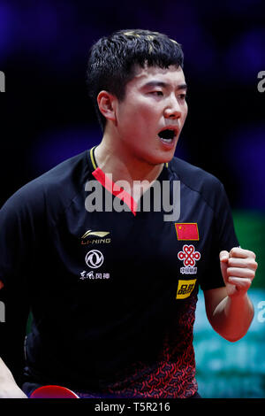 HUNGEXPO Budapest Fair Center, Budapest, Hungary. 26th Apr, 2019. Jingkun Liang (CHN), APRIL 26, 2019 - Table Tennis : 2019 World Table Tennis Championships Men's singles Quarterfinals match at HUNGEXPO Budapest Fair Center, Budapest, Hungary. Credit: D.Nakashima/AFLO/Alamy Live News - Stock Photo