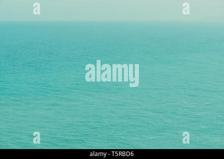 Infinite calm ocean from a birds eye view retro color stylized - Stock Photo