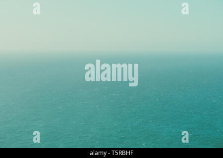 Infinite calm ocean from a birds eye view vintage color stylized - Stock Photo