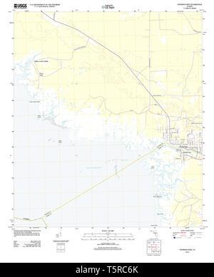 USGS TOPO Map Florida FL Steinhatchee 20120808 TM Restoration - Stock Photo