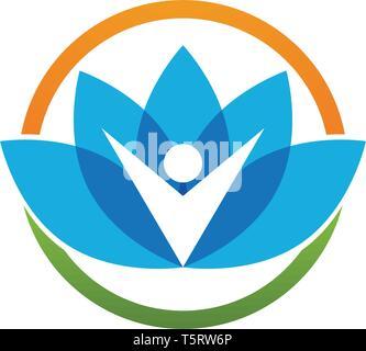 Beauty Vector lotus flowers design logo Template icon - Stock Photo