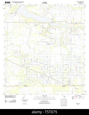 USGS TOPO Map Florida FL Verna 20120905 TM Restoration - Stock Photo