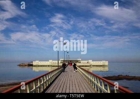 Historic Ribersborgs Kallbadhus in Malmo, Sweden - Stock Photo