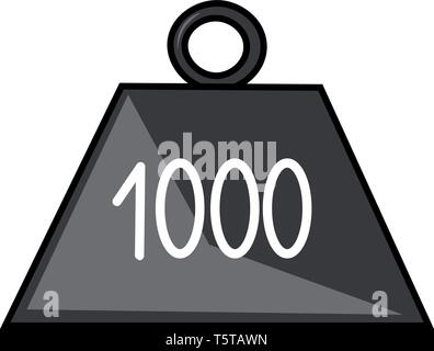Clipart of 1-kilogram weight made of platinum-iridium alloy and the cylinder weighs approximately 22 pounds (1 kilogram) and represent one unit of mas - Stock Photo