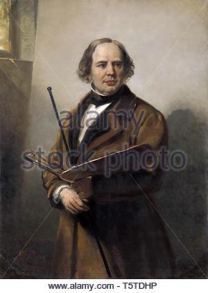 Pieneman, Nicolaas-Jan Willem Pieneman (1779-1853). Schilder, vader van Nicolaas Pieneman, 1860 - Stock Photo