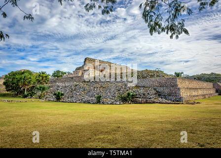 Kabah, Maya archaeological site, Puuc region, Merida, Yucatan, Mexico - Stock Photo