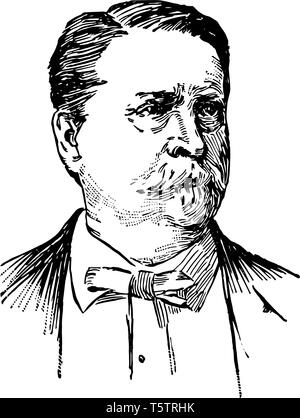 Winfield Scott Hancock 1824 to 1886 he was a career U.S. army officer and a Union general in the American civil war vintage line drawing or engraving  - Stock Photo