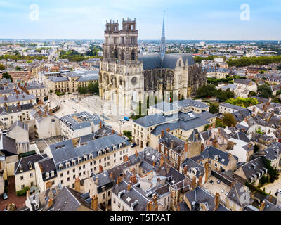 Orleans Cathedral or Basilique Cathedrale Sainte Croix d'Orleans is a Roman Catholic church in Orleans, France - Stock Photo