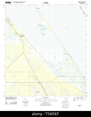 USGS TOPO Map Florida FL Wilson 20120918 TM Restoration - Stock Photo