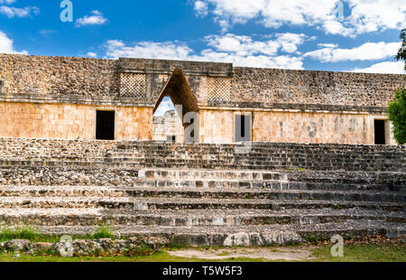 Uxmal, an ancient Maya city of the classical period in present-day Mexico - Stock Photo
