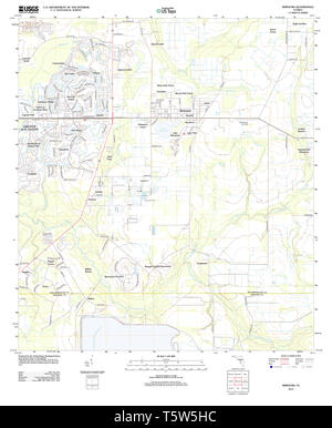 USGS TOPO Map Florida FL Wimauma 20120905 TM Restoration - Stock Photo