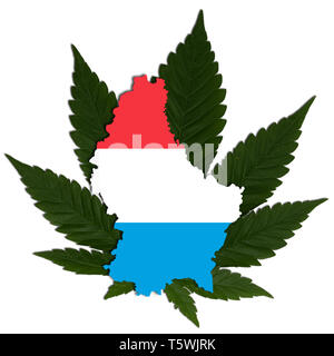 Drug Policy of Luxembourg regarding the Use of Cannabis - Stock Photo