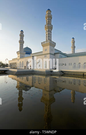 City Mosque on Likas Bay, Kota Kinabalu, Sabah (Borneo), Malaysia - Stock Photo