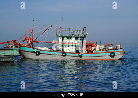 Fishing boat in South China Sea, Kota Kinabalu, Sabah (Borneo), Malaysia - Stock Photo