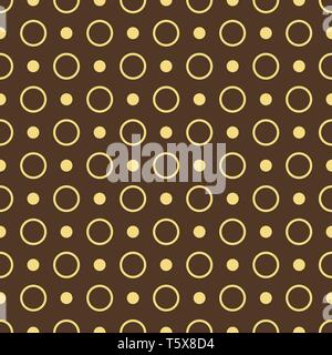 vector seamless circle background. brown abstract seamless background of rings, eps10. - Stock Photo