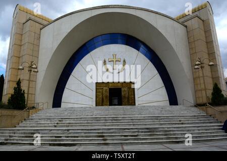 Resurrection Cathedral Albanian Orthodox church Titana Albania - Stock Photo