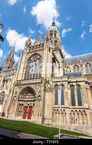 Bayeux, France - September 01, 2018: Cathedral of Our Lady of Bayeux or Cathedrale Notre-Dame de Bayeux. Calvados department, Normandy, France - Stock Photo