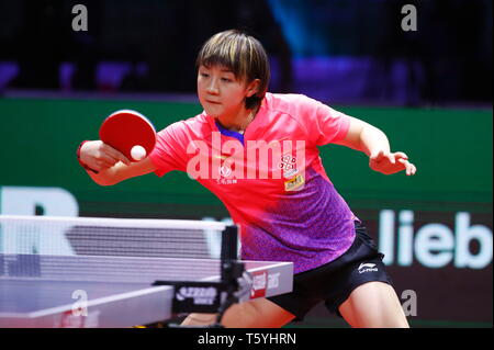 Chen Meng (CHN),  APRIL 27, 2019 - Table Tennis : 2019 World Table Tennis Championships  Women's singles Final match  at HUNGEXPO Budapest Fair Center, Budapest, Hungary. (Photo by Sho Tamura/AFLO SPORT) - Stock Photo