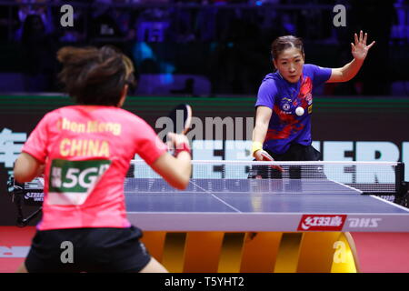 Liu Shiwen (CHN),  APRIL 27, 2019 - Table Tennis : 2019 World Table Tennis Championships  Women's singles Final match  at HUNGEXPO Budapest Fair Center, Budapest, Hungary. (Photo by Sho Tamura/AFLO SPORT) - Stock Photo