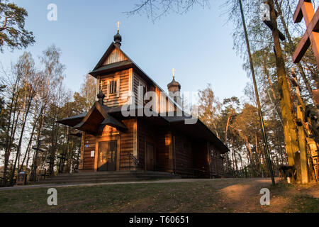 Grabarka, Poland. Holy Mountain Grabarka, largest place of worship of Eastern Orthodox Church in Poland, Siemiatycze, Podlasie - Stock Photo