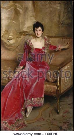 John Singer Sargent-Mrs. Hugh Hammersley - Stock Photo