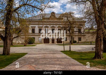Chateau Nove Mesto na Morave on main square,  main square, Nove Mesto na Morave, Czech Republic - Stock Photo