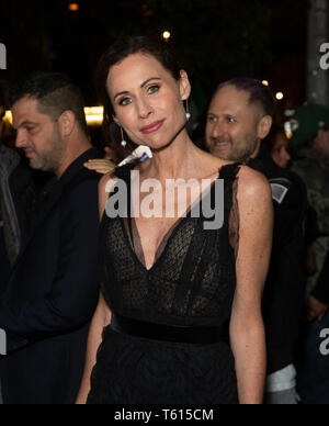 New York, NY - April 27, 2019: Minnie Driver attends world premiere of Gully during Tribeca Film Festival at SVA Theatre - Stock Photo