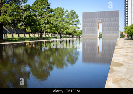 The Oklahoma City National Memorial  all who were affected by the Oklahoma City bombing on April 19, 1995, USA - Stock Photo