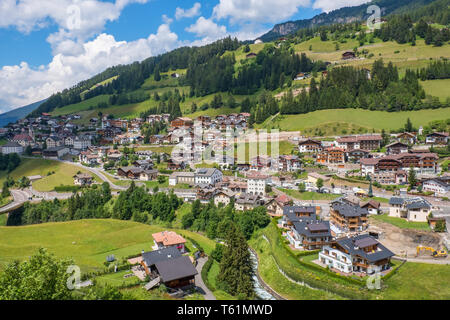 View at Santa Cristina in Val Gardena , Italy - Stock Photo