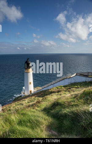 The lighthouse at Maughold Head on the East coast of the Isle of Man, Irish Sea, UK. - Stock Photo