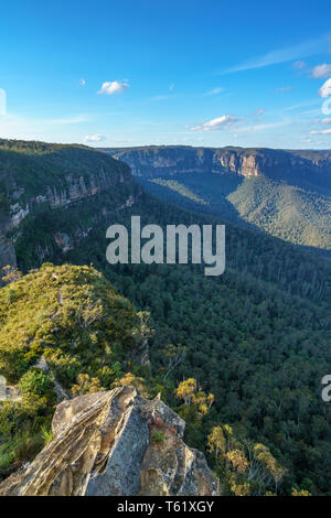 valley view lookout, blue mountains national park, new south wales, australia - Stock Photo
