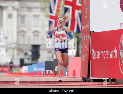 London, UK. 28th Apr, 2019. The 2019 Virgin London Marathon; Charlotte Purdue of Great Britain finishes in 10th place Credit: Action Plus Sports/Alamy Live News - Stock Photo