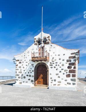 The small chapel Ermita de San Bartolome in the east of La Palma, Spain. - Stock Photo