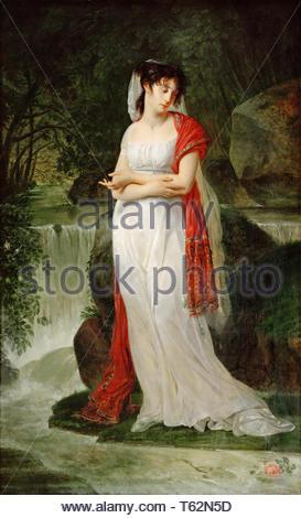 Antoine-Jean Gros (1771-1835) - Christine Boyer (1776-1800) - Stock Photo