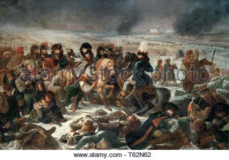 Antoine-Jean Gros (1771-1835) - Napoleon on the Battlefield at Eylau, February 9, 1807 - Stock Photo