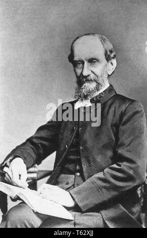 Andrew Murray, South African pastor and writer, in a portrait by Elliott & Fry, c1895. - Stock Photo