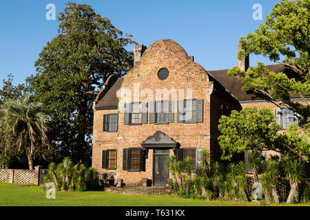 The House at Middleton PLace in Charleston, South Carolina, USA. The house (South Flanker) houses a museum. - Stock Photo
