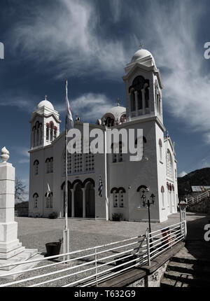 Church of Holy Cross in Pedoulas village - Stock Photo