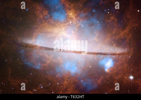 Cosmic landscape, awesome science fiction wallpaper. Elements of this image furnished by NASA - Stock Photo