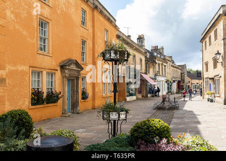 The High Street in Corsham, Wiltshire, England, UK - Stock Photo