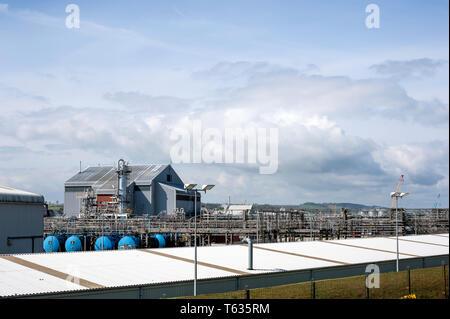 GlaxoSmithKline manufacturing plant, Montrose, Angus, Scotland, uk. - Stock Photo