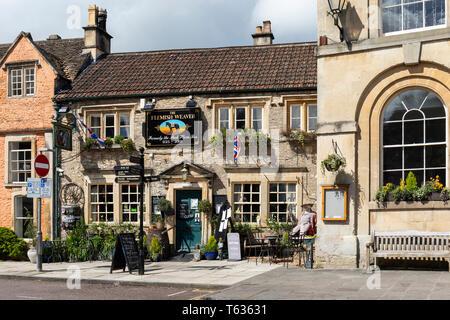 The Flemish Weaver Public House, High Street, Corsham, Wiltshire, England, UK - Stock Photo