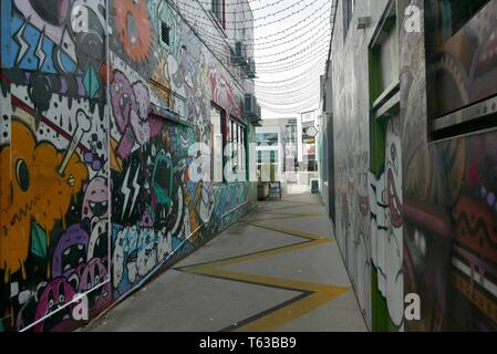 Street art in New Plymouth New Zealand - Stock Photo