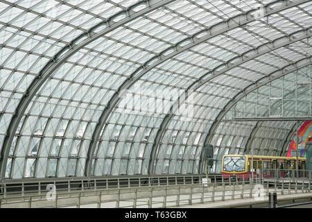 S-bahn train at Berlin Hauptbahnhof, Germany. - Stock Photo