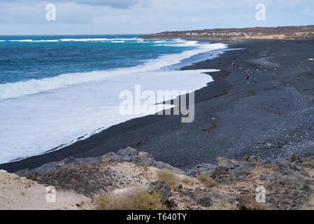 Janubio beach in Lanzarote, Spain - Stock Photo