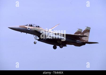 Israeli Air Force IAF McDonnell Douglas F-15I Strike Eagle / Ra'am - Stock Photo