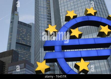 Headquarter of the European Central Bank (ECB), Frankfurt, Germany - Stock Photo