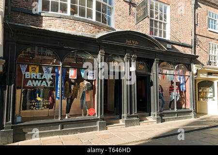 Jack Wills clothing shop store Stonegate York North Yorkshire England UK United Kingdom GB Great Britain - Stock Photo