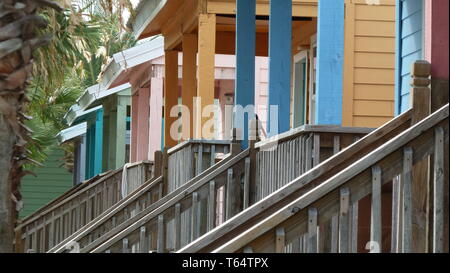 Mexico Colorful Exterior With Wood Windows And Doors